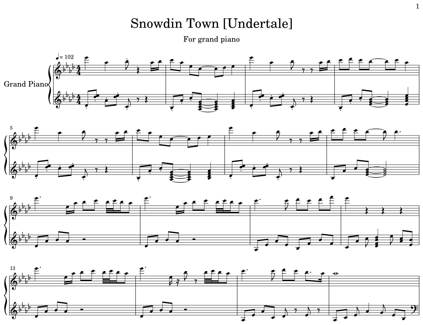 Snowdin Town [Undertale] - Flat