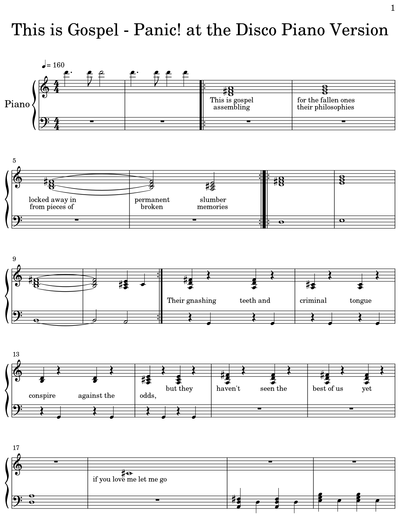 picture about Free Printable Gospel Sheet Music for Piano identified as This is Gospel - Nervousness! at the Disco Piano Variation - Flat