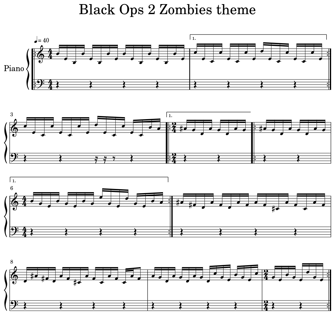Black Ops 2 Zombies Theme