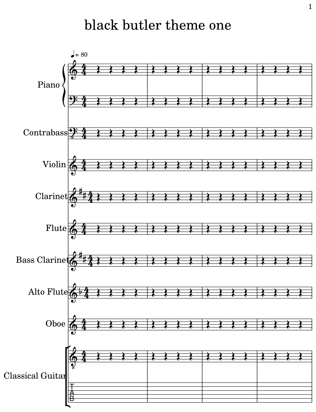 Sheet Music For Piano, Contrabass