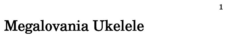 Megalovania Ukelele - Flat