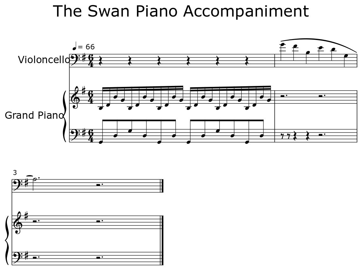 The Swan Piano Accompaniment - Flat