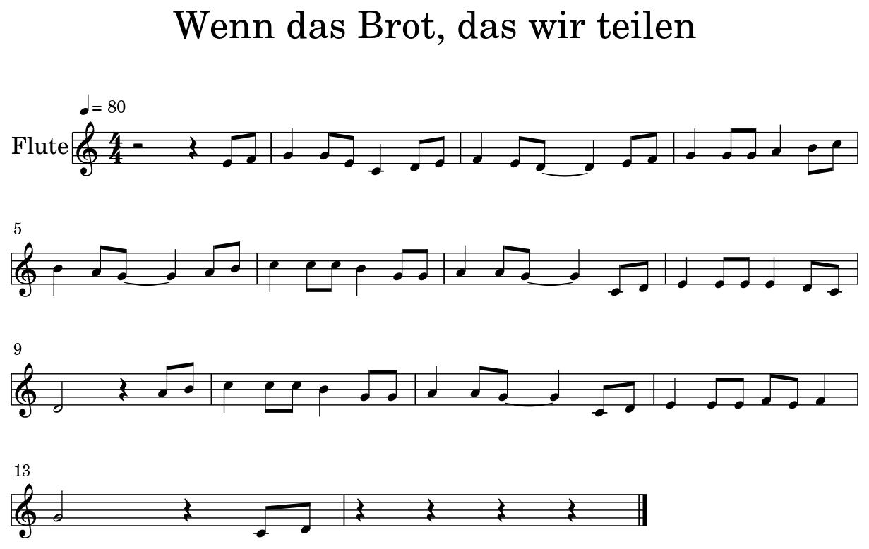 Wenn Das Brot Das Wir Teilen Liedtext