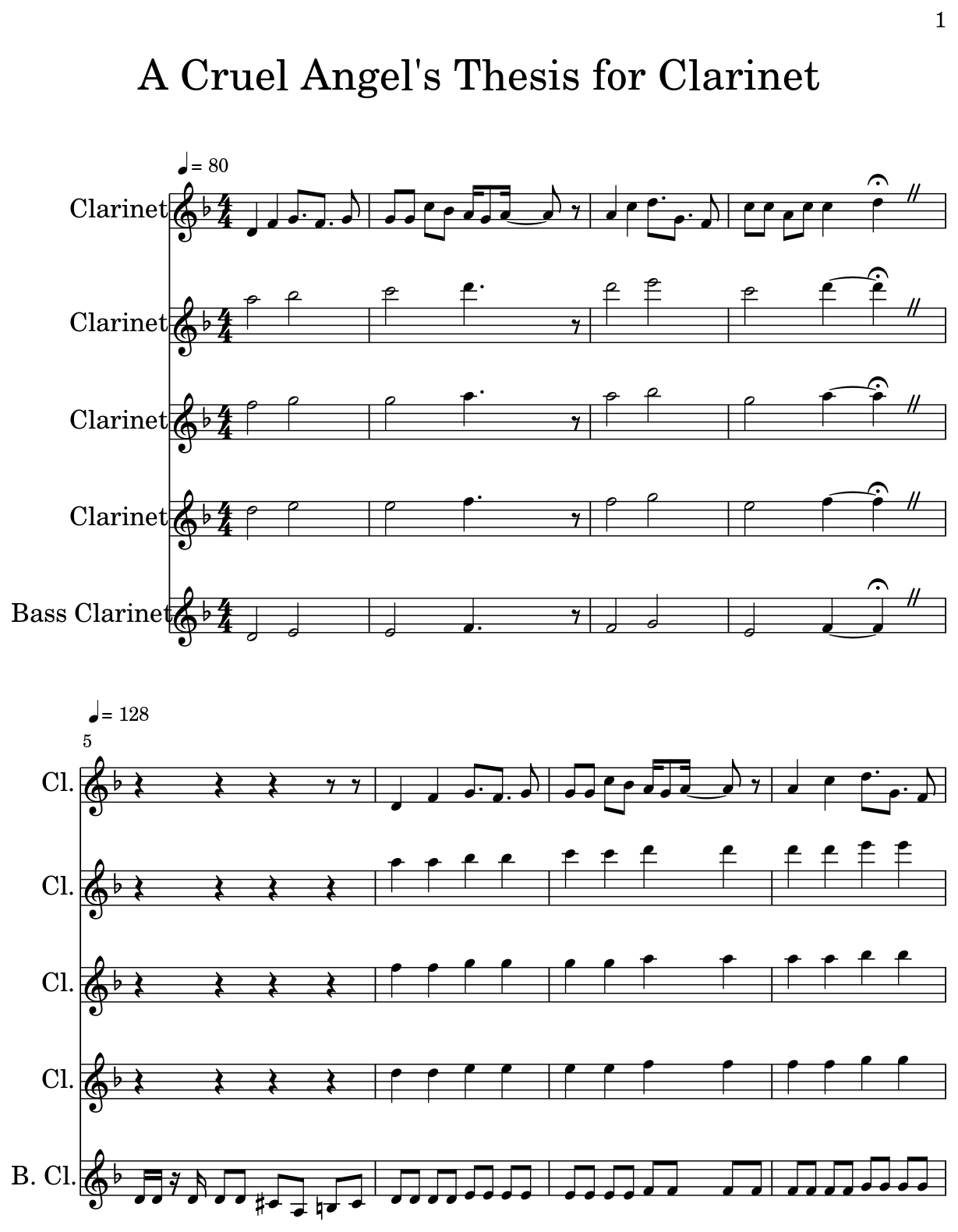 cruel angels thesis clarinet