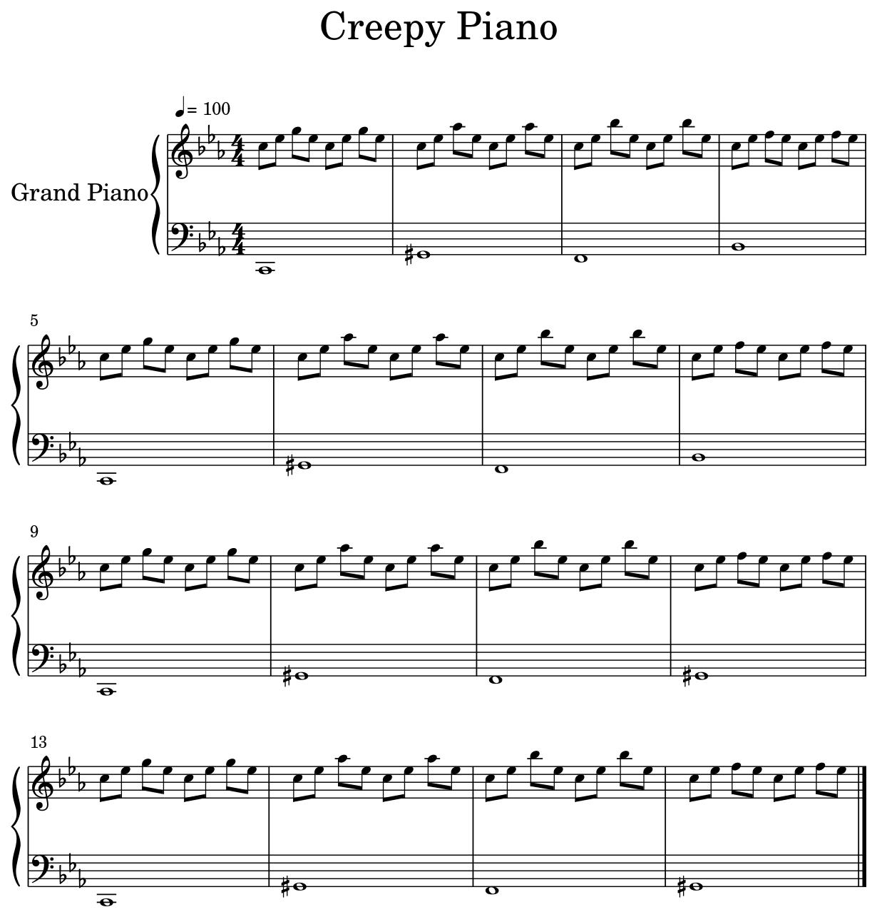 Creepy Piano - Flat