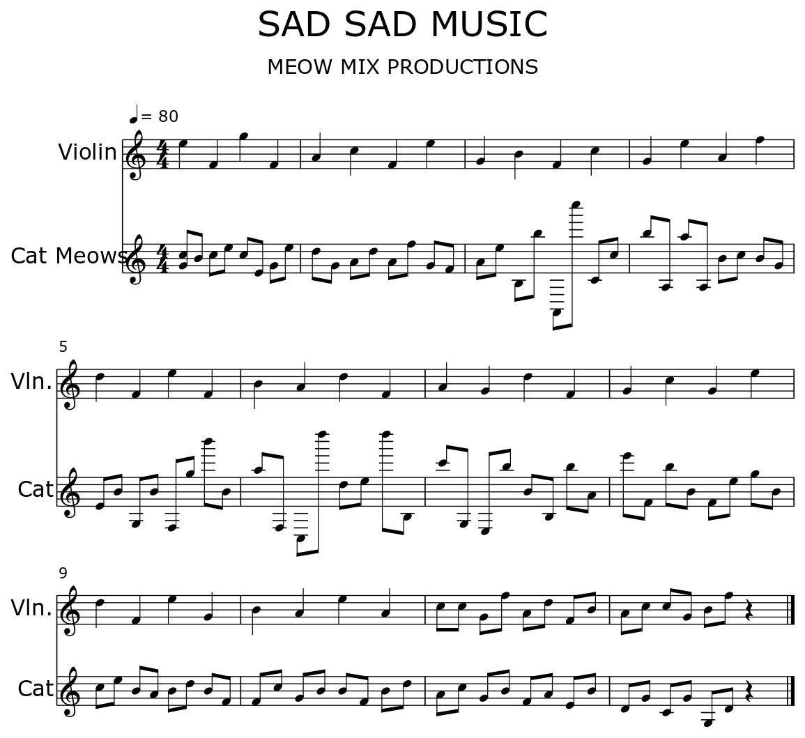 SAD SAD MUSIC - Flat