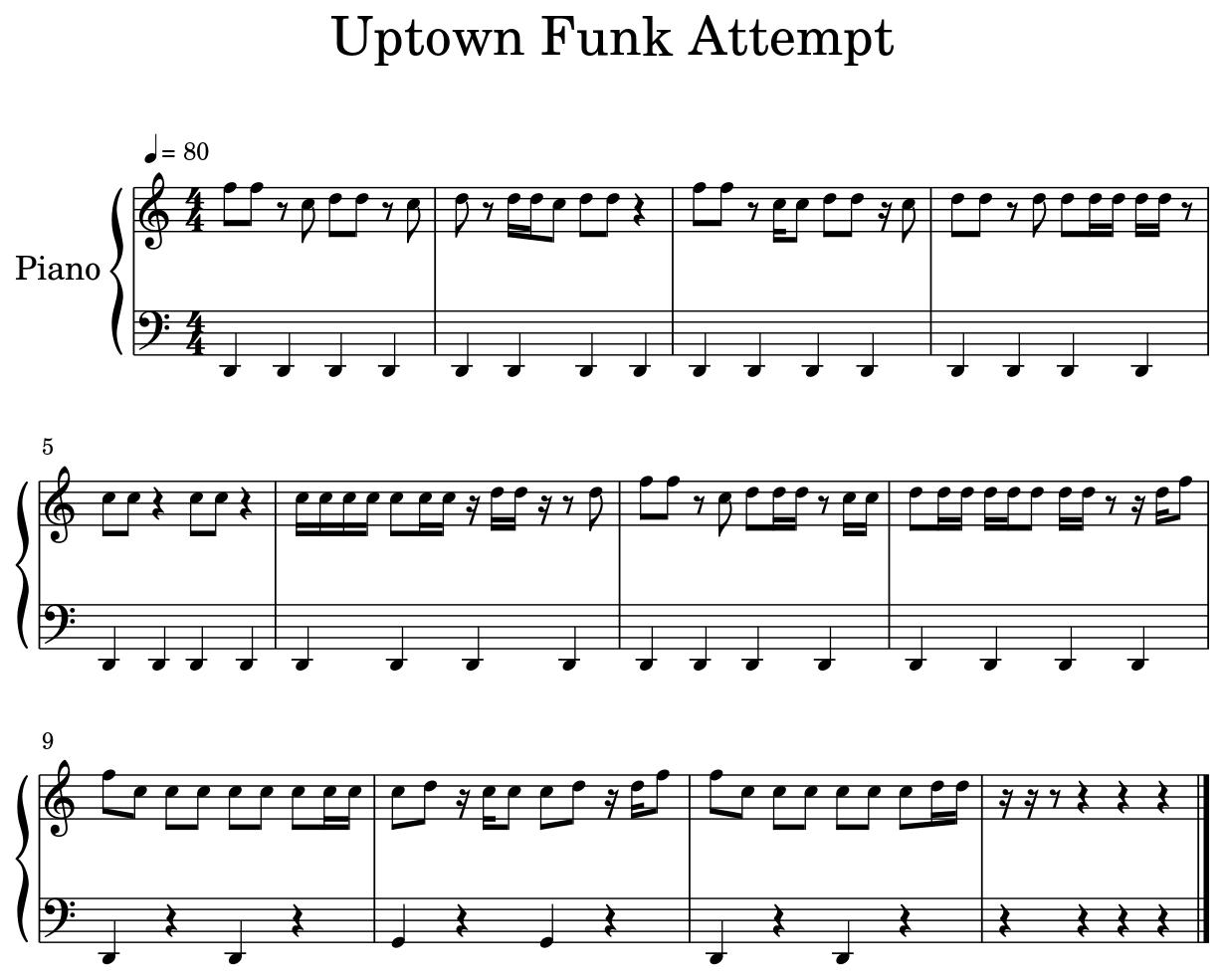 Uptown Funk Attempt Flat