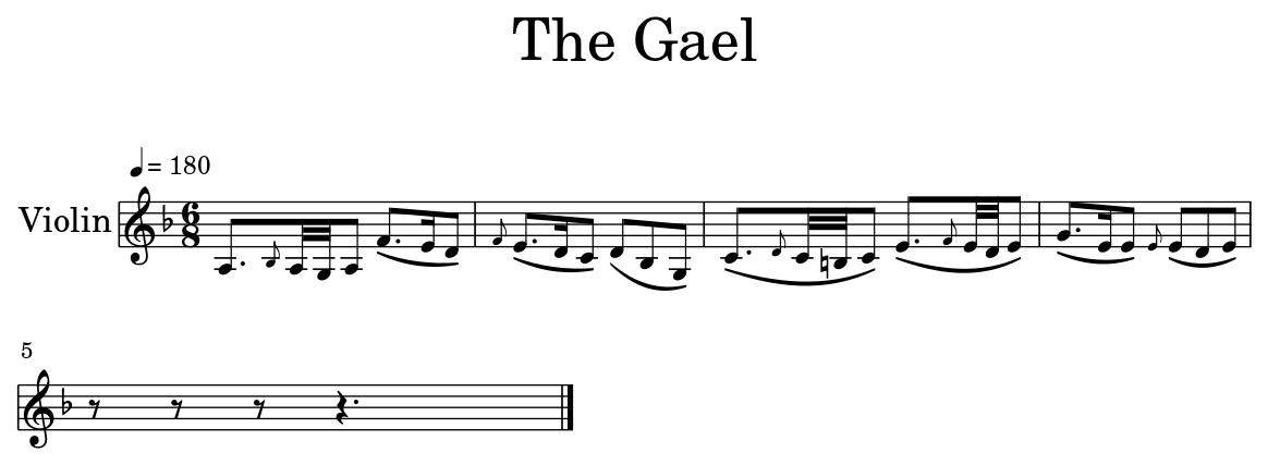 The Gael - Flat