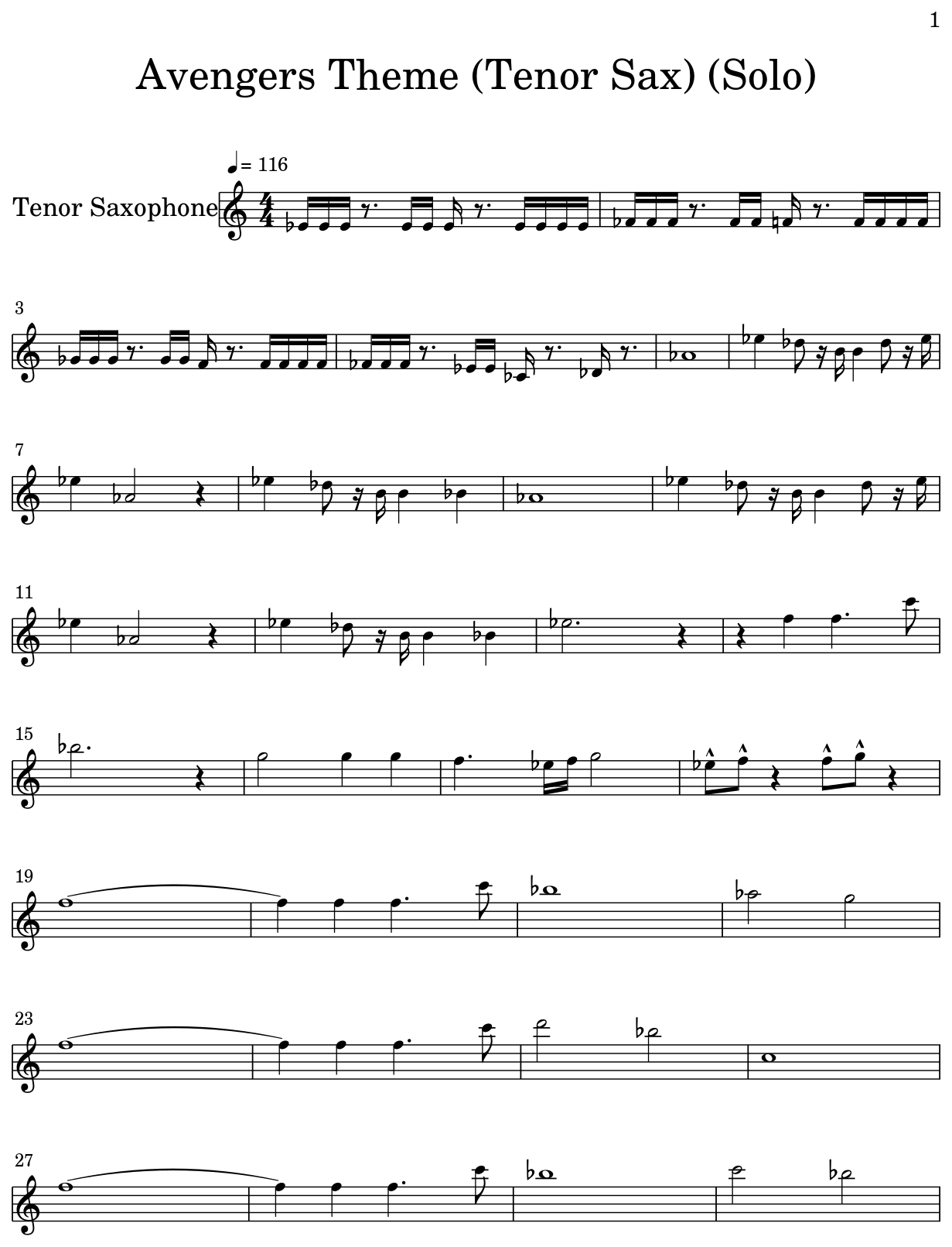 Tenor Sax Solo Sheet Music Free – Grcija