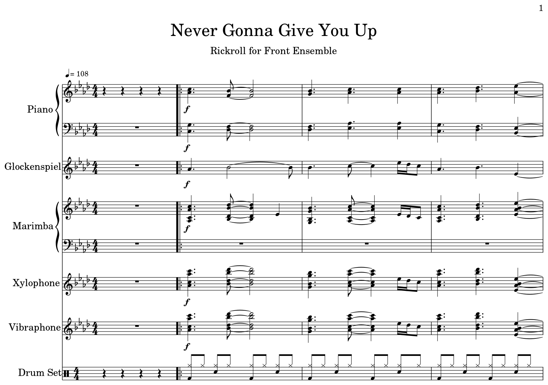 Never Gonna Give You Up Flat