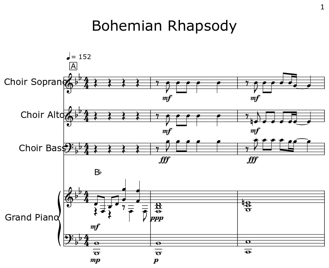 Bohemian Rhapsody - Flat