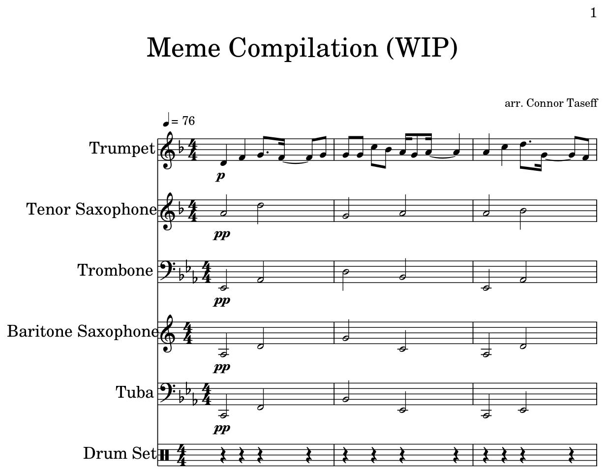 Meme Compilation (WIP) - Sheet music for Trumpet, Tenor ...