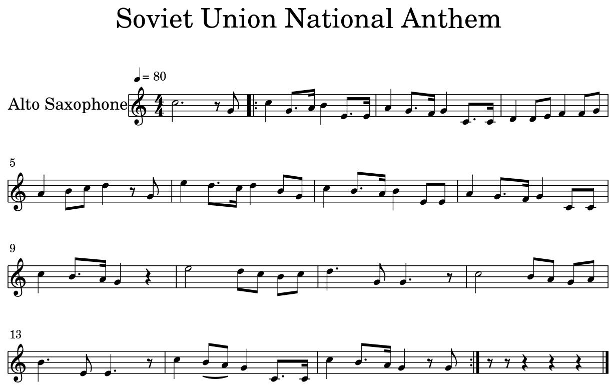 USSR NATIONAL ANTHEM - Soviet Union National Anthem - Flat