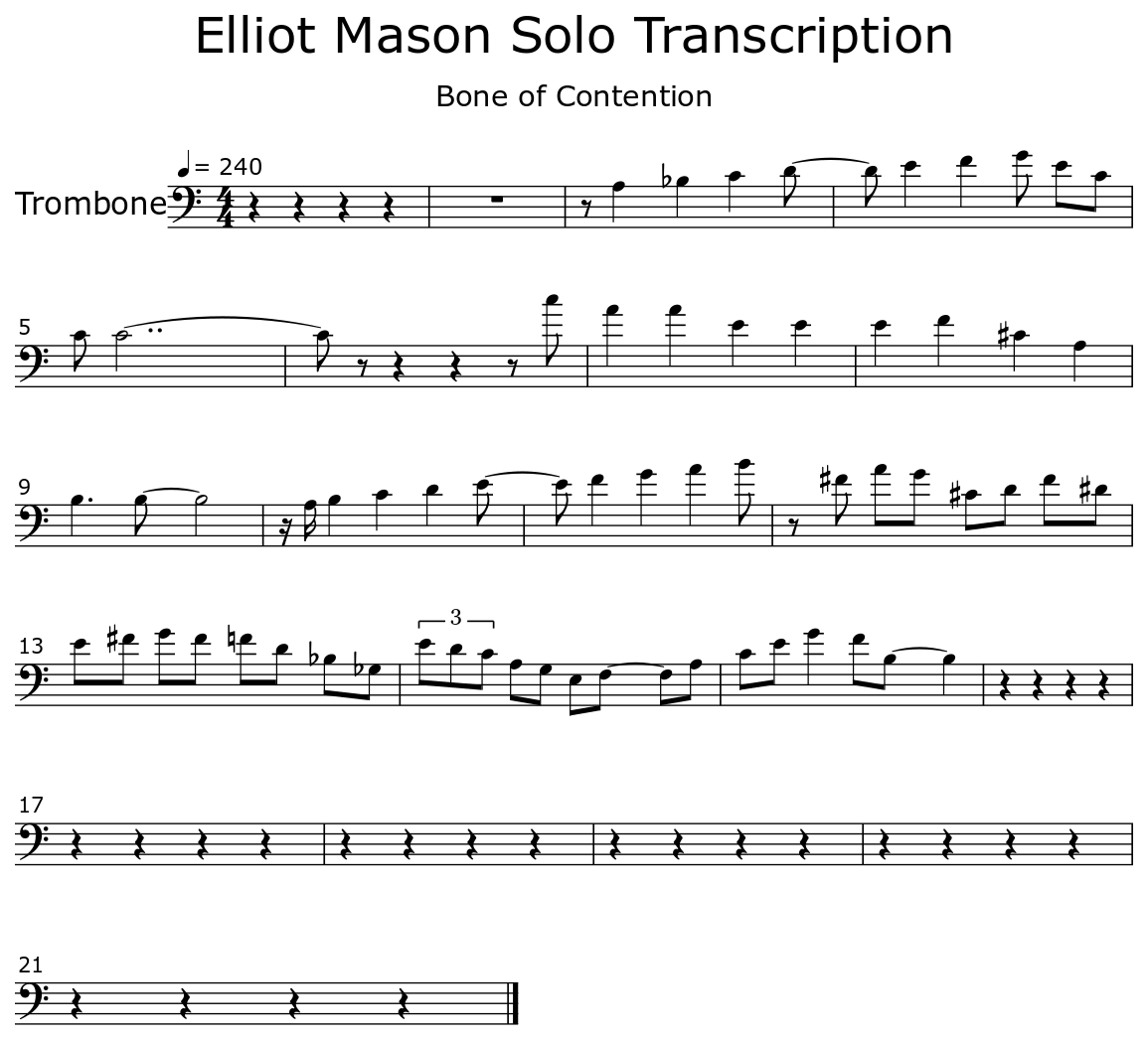 Elliot Mason Solo Transcription - Flat