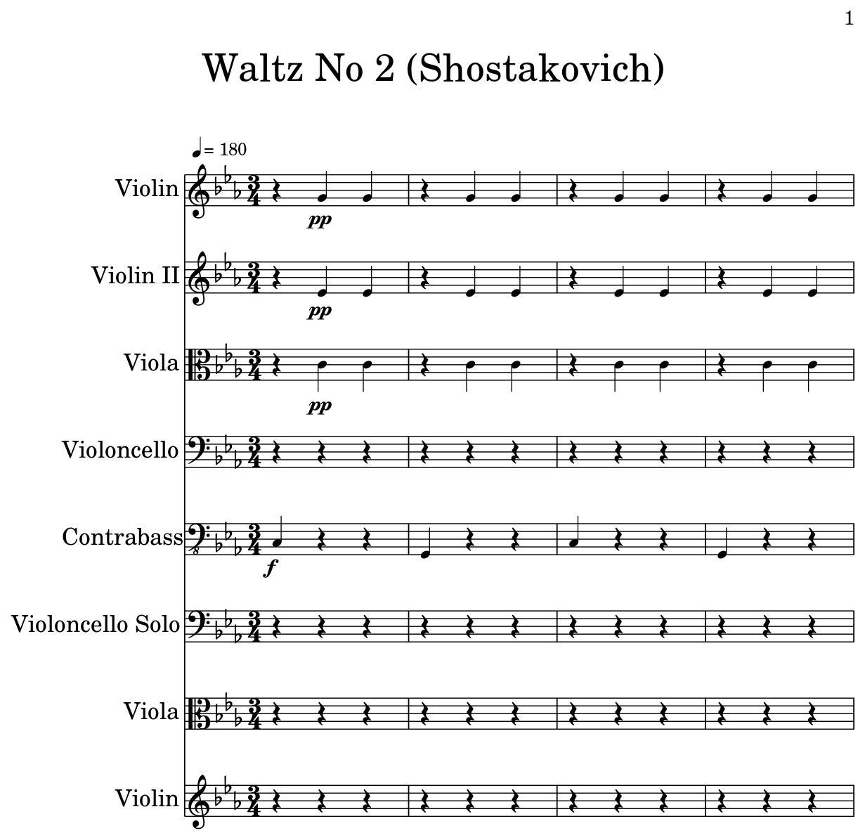 Waltz No 2 (Shostakovich) - Flat