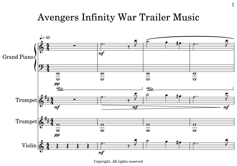 Avengers Theme Piano