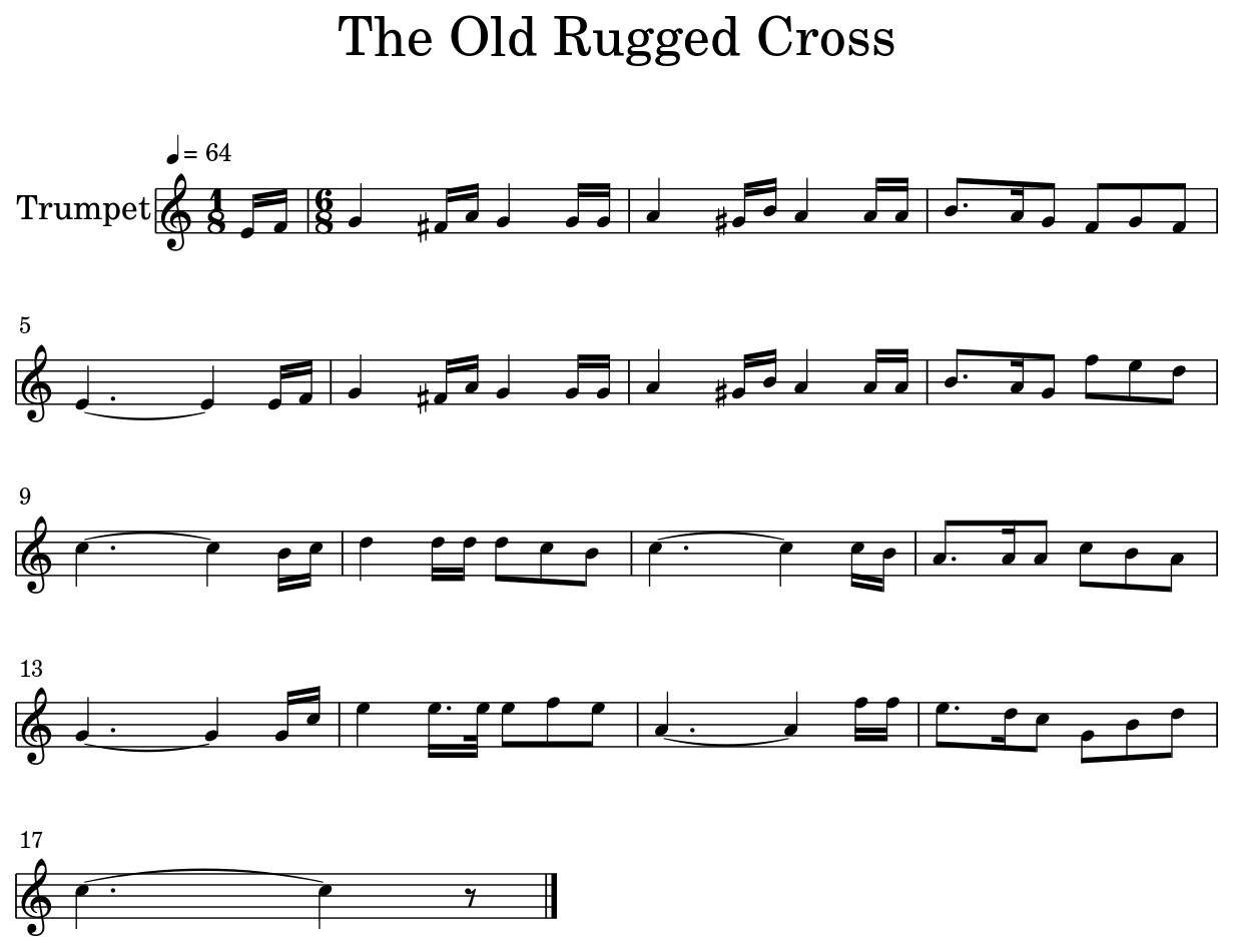 It's just a picture of Old Rugged Cross Printable Sheet Music with free pdf