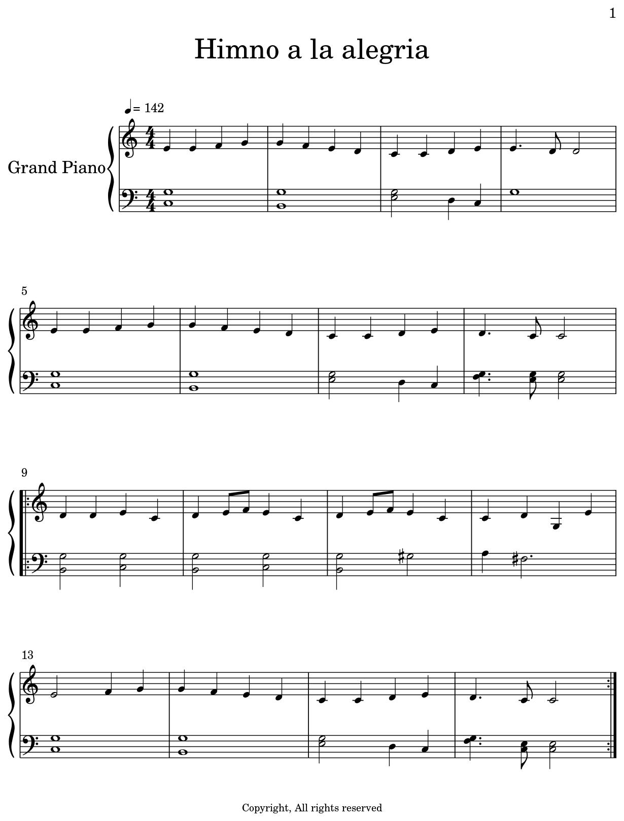 Himno A La Alegria Flat