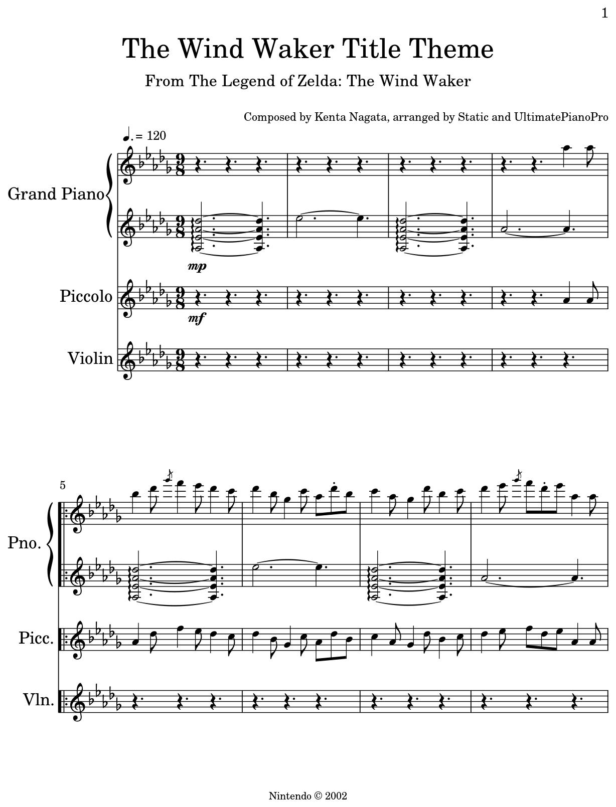 The Wind Waker Title Theme Flat