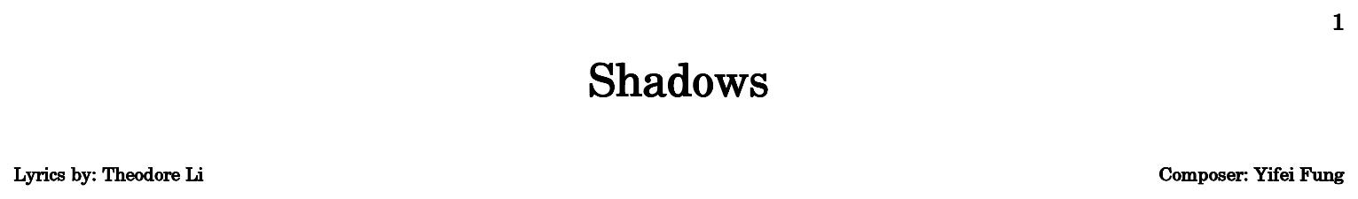 Shadows Flat
