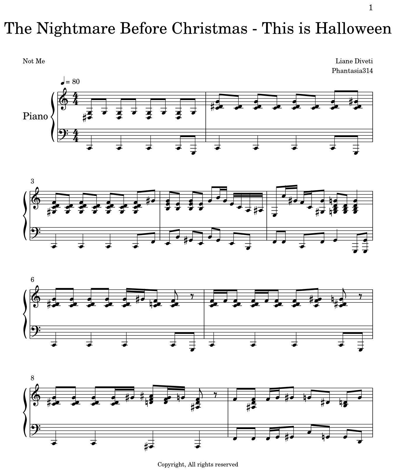 The Nightmare Before Christmas - This is Halloween - Sheet music for ...