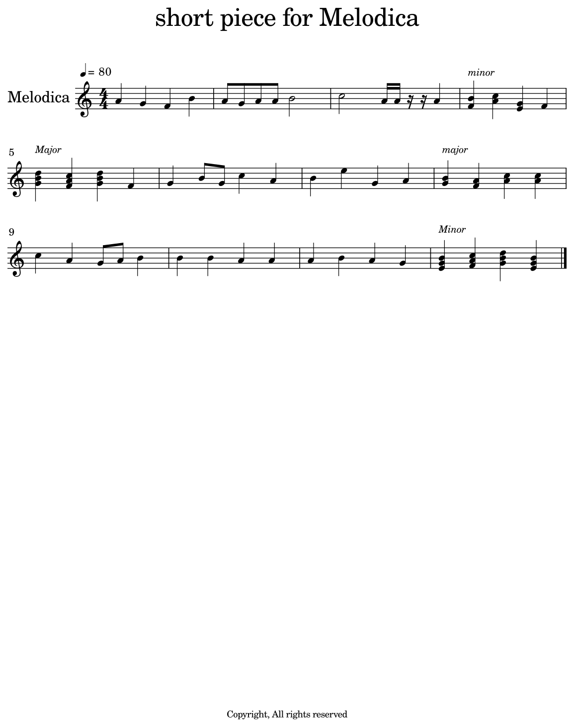 short piece for Melodica - Flat