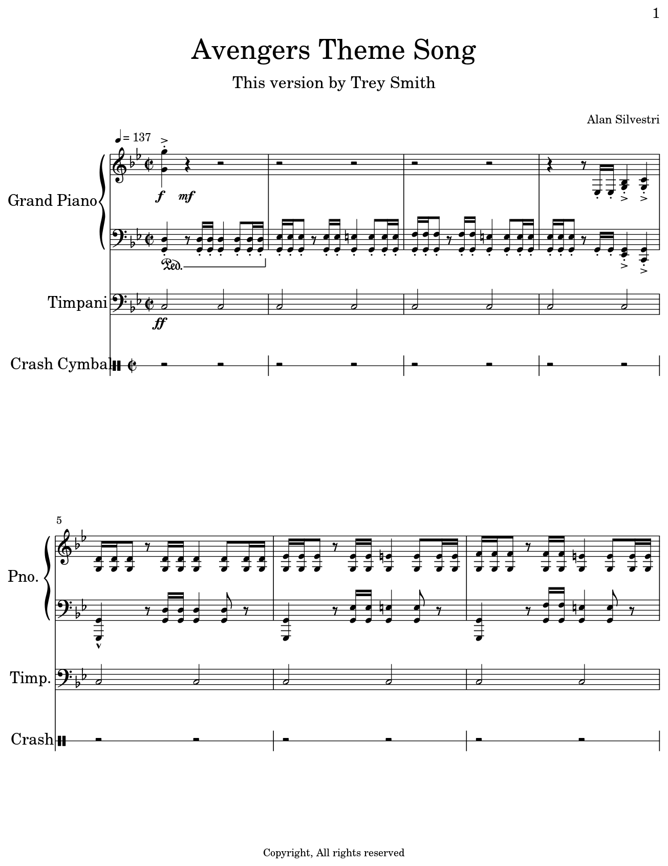 Avengers Theme Song - Flat