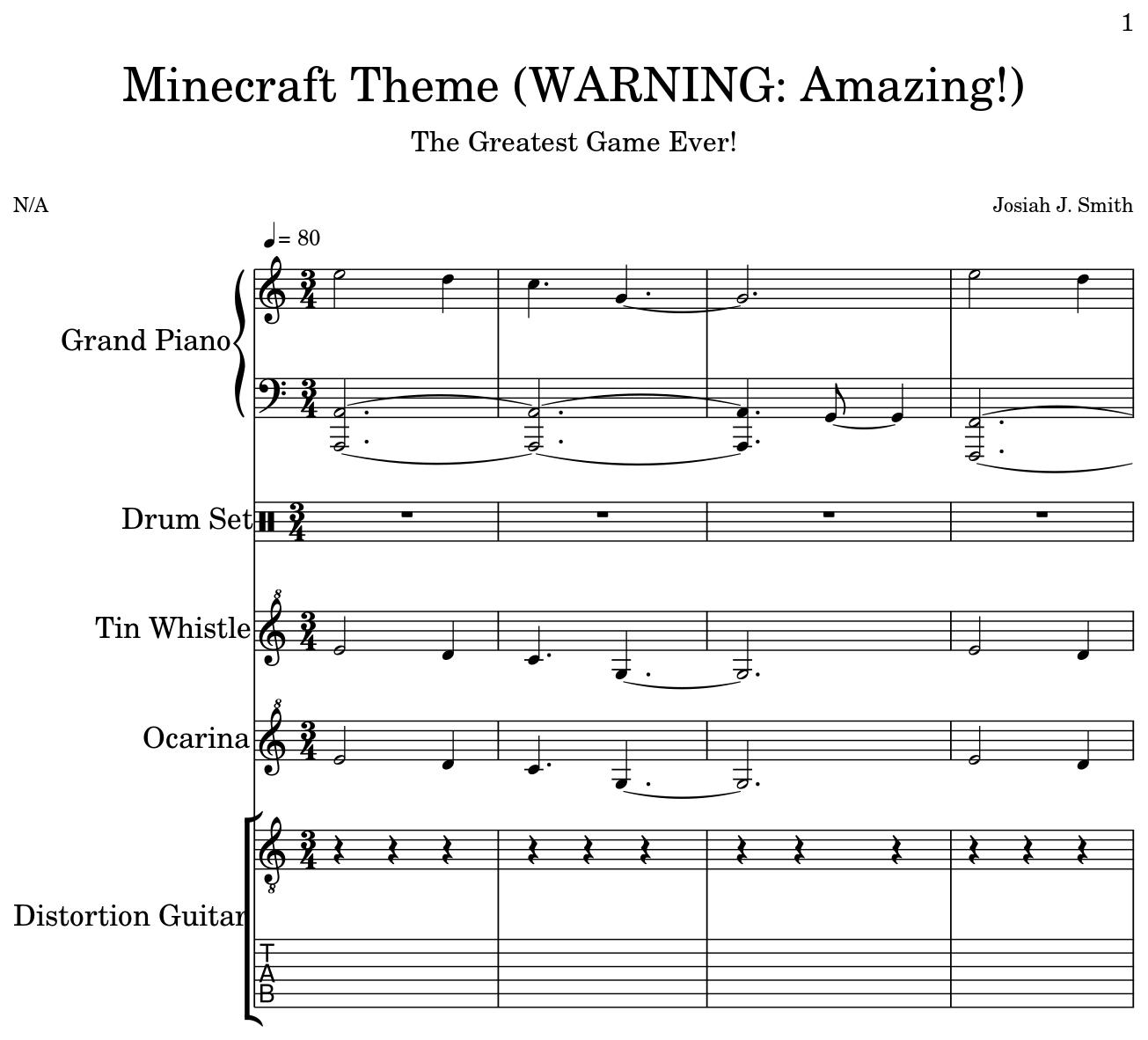 Minecraft Theme (WARNING: Amazing!) - Flat